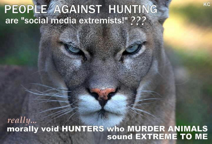 people against hunting animals are fellow beings